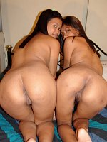 Lesbian teen babes play with dildos